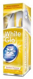 White Glo Smokers formula - bělící zubní pasta pro kuřáky + zubní a mezizubní kartáček