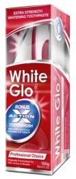 White Glo Professional - profesionální bělící zubní pasta + zubní a mezizubní kartáček