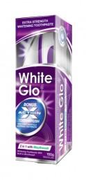 White Glo 2v1 - bělící zubní pasta s ústní vodou + zubní a mezizubní kartáček