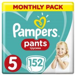 Pampers Pants plenkové kalhotky (velikost 5), měsíční balení 152ks