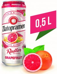 Zlatopramen Radler Grapefruit ochucené pivo plech