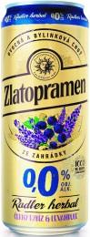 Zlatopramen Radler Herbal černý rybíz & levandule plech 0,0%