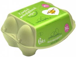 Čerstvá podestýlková vejce XL 6ks - podestýlková