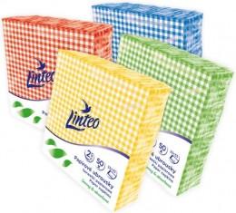 Linteo papírové ubrousky s barevným vzorem 2-vrstvé, 33x33cm, 50ks