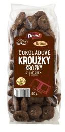 Druid Kroužky čokoládové s karobem