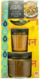 Marks & Spencer Směs koření, ochucovací pasta masala a kari omáčka Gujarati na přípravu curry