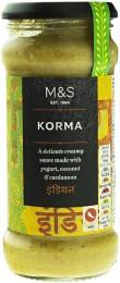 Marks & Spencer Mírně pálivá curry omáčka s jogurtem, kokosem, smetanou a kardamonem