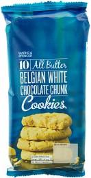 Marks & Spencer Máslové sušenky s kousky belgické bílé čokolády