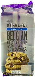 Marks & Spencer Máslové sušenky se sníženým obsahem tuku s kousky belgické hořké a mléčné čokolády
