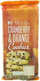 Marks & Spencer Máslové sušenky s pomerančovou příchutí a se sušenými slazenými brusinkami