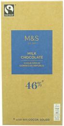 Marks & Spencer Mléčná čokoláda