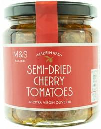 Marks & Spencer Polosušená cherry rajčata nakládaná v extra panenském olivovém oleji s česnekem a bylinkami