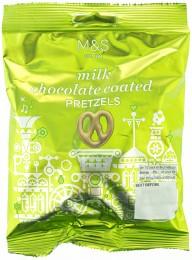 Marks & Spencer Slané pšeničné preclíky máčené v mléčné čokoládě (31%)