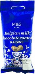 Marks & Spencer Kalifornské rozinky v belgické mléčné čokoládě