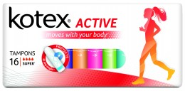 Kotex Tampony Active Super 16ks