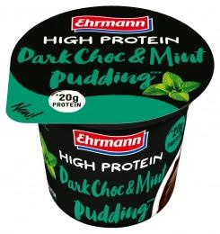 Ehrmann High Protein Pudding tmavá čokoláda s mátou