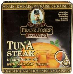 F.J.Kaiser Tuňák steak v rostlinném oleji s uzenou příchutí