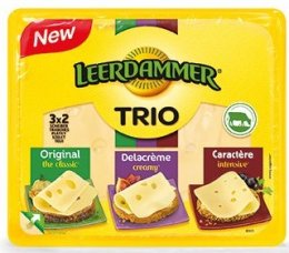 Leerdammer Trio sýr plátky