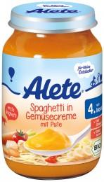 Alete BIO Špagety se zeleninovou omáčkou a krůtím masem