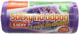 Vipor sáčky na odpad s vůní levandule s uchy, 35l, 24ks