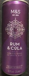 Marks & Spencer Rum a Cola