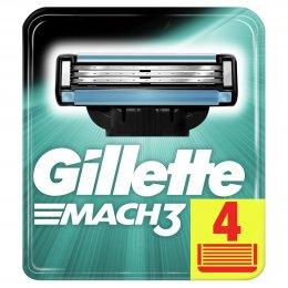 Gillette Mach3 Holicí Hlavice Pro Muže 4 ks