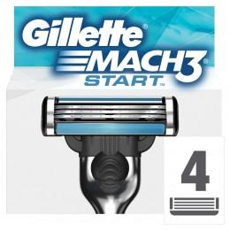 GilletteMach3 Start Holicí hlavice k holicímu strojku 4ks