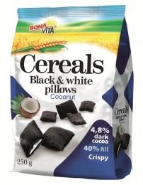 Bonavita Black & White Cereální polštářky s kokosovou náplní