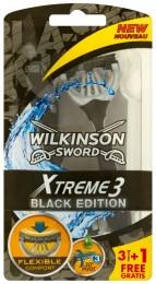 Wilkinson Sword Xtreme3 Black Edition jednorázový holicí strojek se 3 břity, 4ks