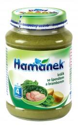 Hamánek Králík se špenátem a bramborem