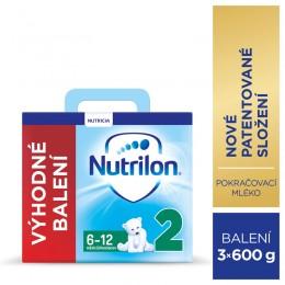 Nutrilon 2 pokračovací kojenecké mléko, 3x600g, 6+