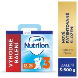 Nutrilon 3 batolecí mléko, 3x600g, 12+