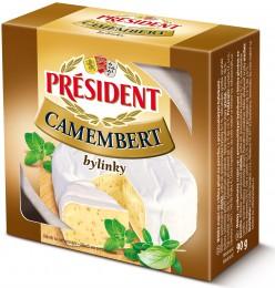 Président Camembert bylinky