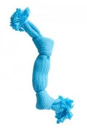 Kruuse Hračka pro psy BUSTER Pískací lano, modrá, 35 cm, M