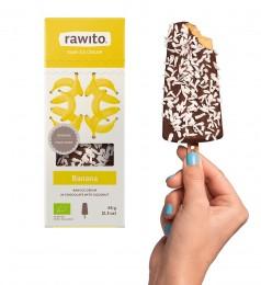 Rawito Banánová zmrzlina v čokoládě sypané kokosem