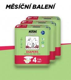 Muumi Baby Maxi 7-14 kg, vel. 4, měsíční balení eko plen, 3x46 ks