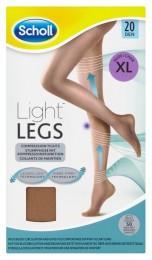 Scholl Light Legs™ Kompresní punčochové kalhoty 20 DEN tělové XL