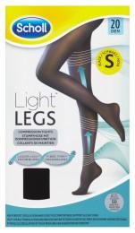 Scholl Light Legs™ Kompresní punčochové kalhoty 20 DEN černé S