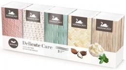 Harmony Delicate care Shea Butter balsam papírové kapesníky 10x10ks