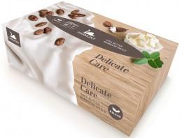 Harmony Delicate care Shea Butter balsam papírové kapesníky 3vrstvé box 80ks
