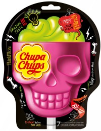 Chupa Chups 3D Skull Strawberry-Lime