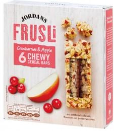 Jordans ovesné müsli tyčinky brusinky & jablko