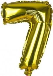 Banquet Balónek zlatý nafukovací foliový číslo 7, 1ks