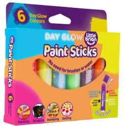 Little Brian Paint Sticks zářivé barvy, 6-pack