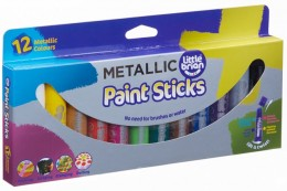 Little Brian Paint Sticks metalické barvy, 12-pack