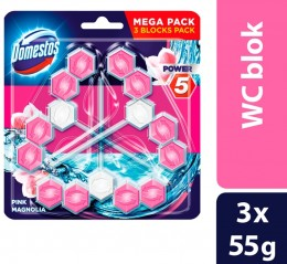 Domestos Power 5 Pink Magnolia WC blok 3 x 55g