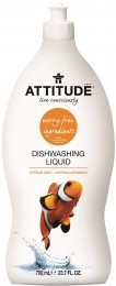 Attitude Prostředek na mytí nádobí s vůní citronové kůry