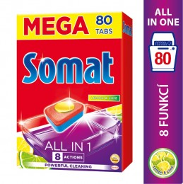 Somat All in One Lemon&Lime tablety do myčky 80ks