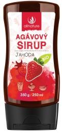 Allnature Agávový sirup Jahoda BIO