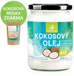 Allnature Kokosový olej BIO + kokosová mouka dárek